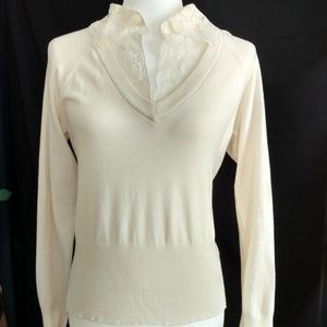 The Limited Cream Long Sleeved Top